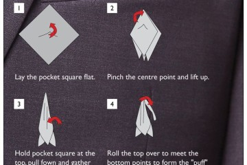 how to fold a pocket square for a tuxedo