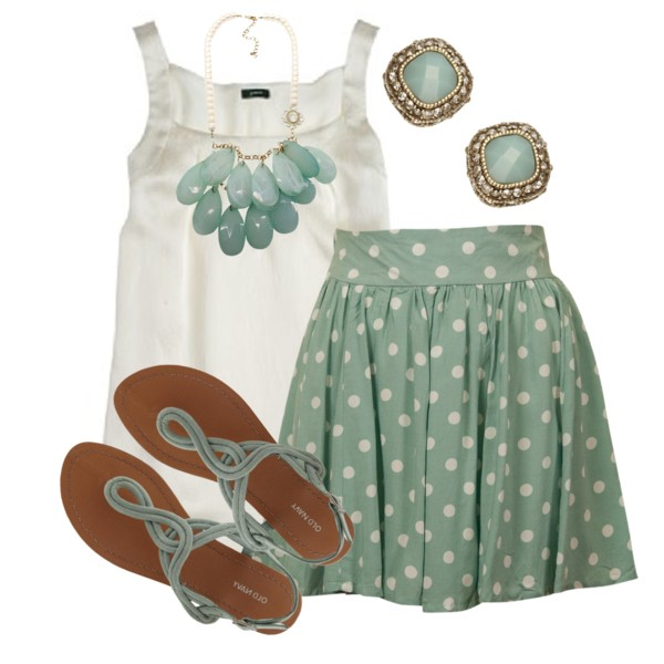 casual spring green outfit wear