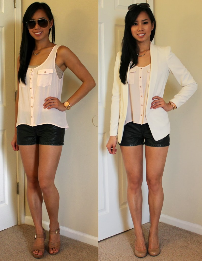 summer to fall white blazer outfit ideas