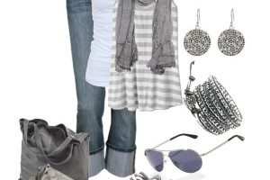 Grey outfit style idea with converse and shades