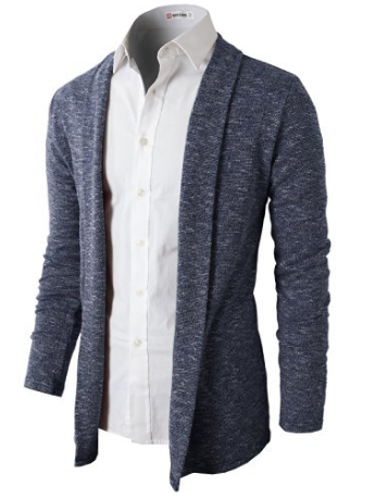 H2H Mens Fashion Open Shawl Cardigan