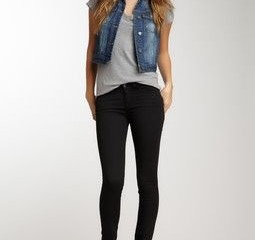 Simple casual outfit idea with a jean vest