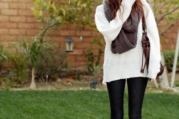 cute casual outfit idea with leggings