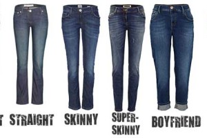 difference between bootcut, straight, skinny, and flare jeans