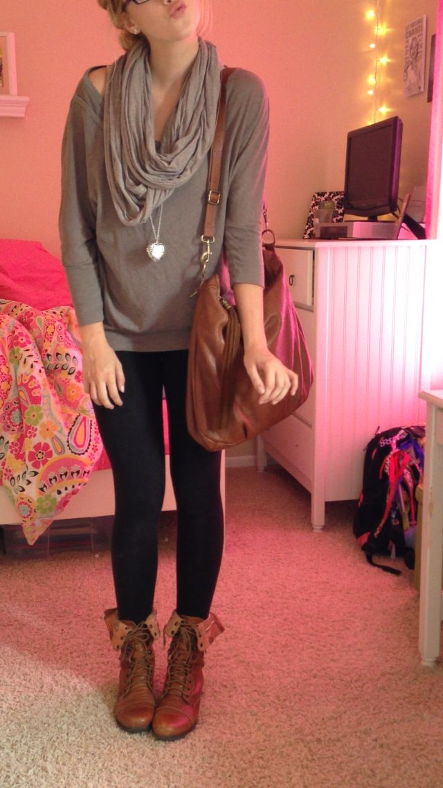 girly outfit style with combat boots