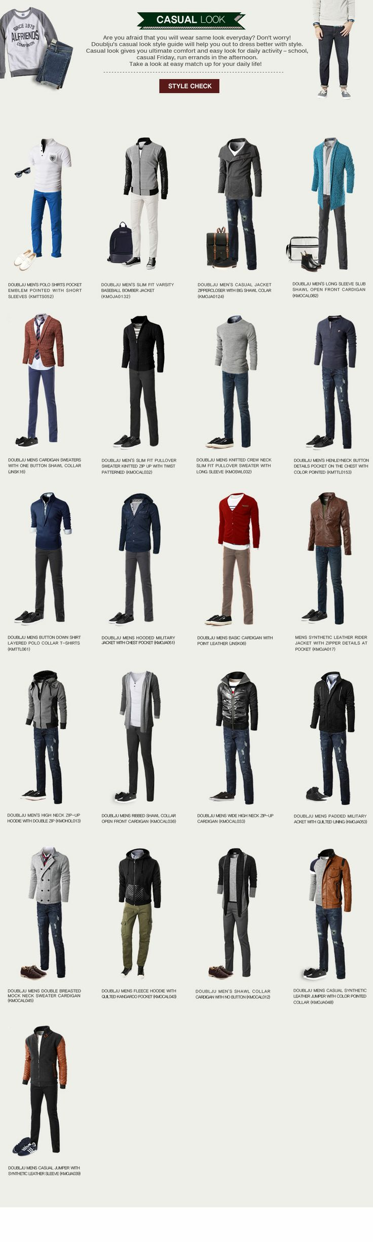 20+ Casual Outfit Ideas for Men [Infographic]