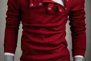men's maroon polish bolf hoodie