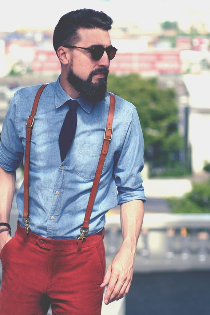 mens suspenders leather fashion 8