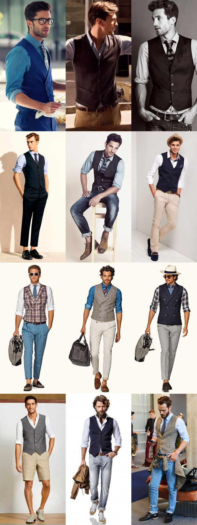 mens waistcoat vest outfit ideas for the summer