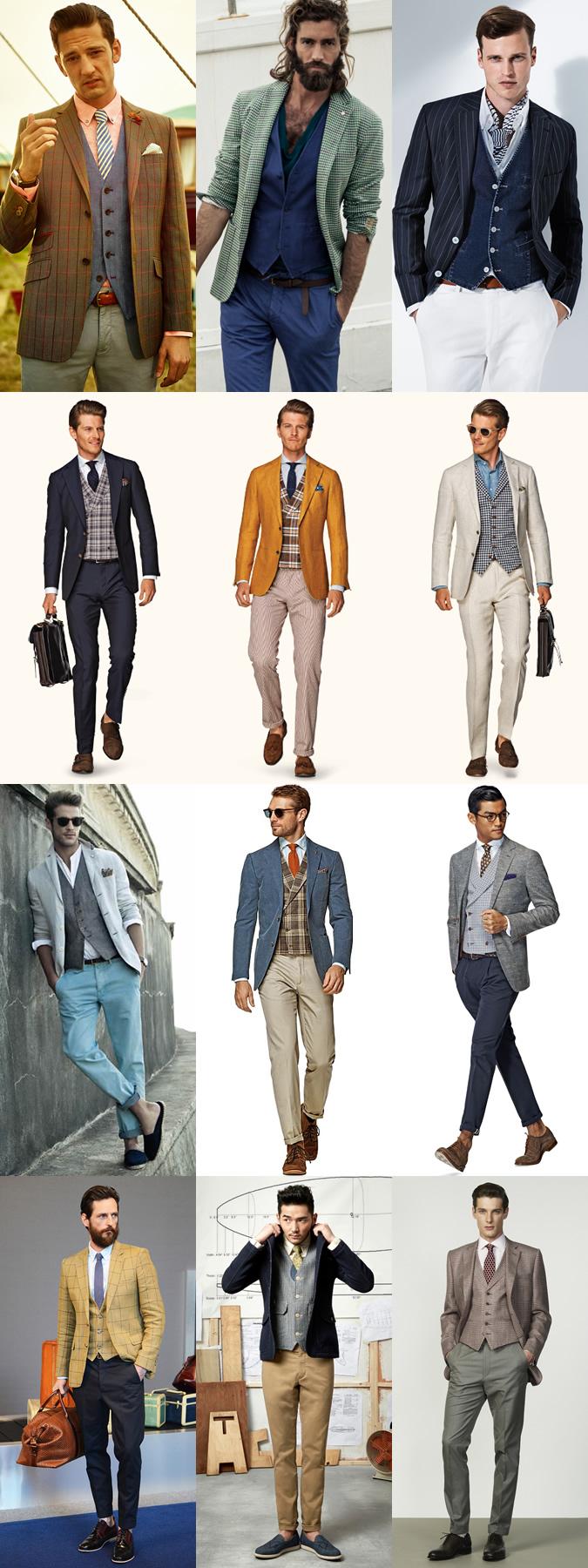 mens waistcoat vest outfit ideas