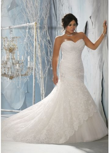 plus size bridal wedding dress