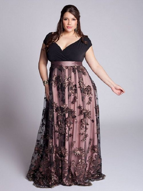 2 piece plus size bridesmaid attire