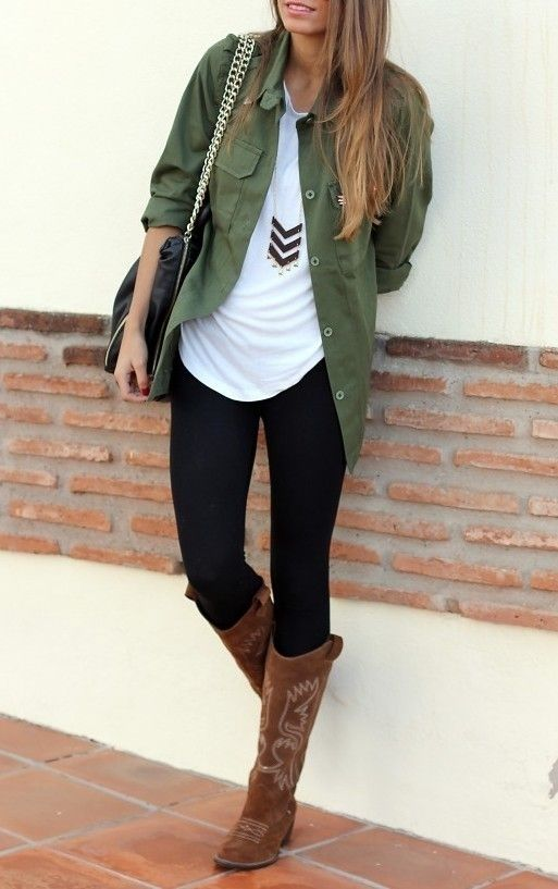 Vintage Outfit Idea Style with Leggings