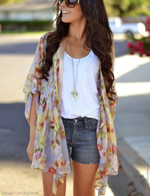 30 Days of Summer: Outfit Idea 9 - Kimono Jacket Look