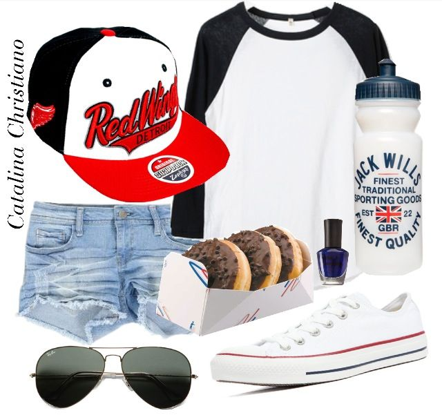 baseball game outfit idea for women 2