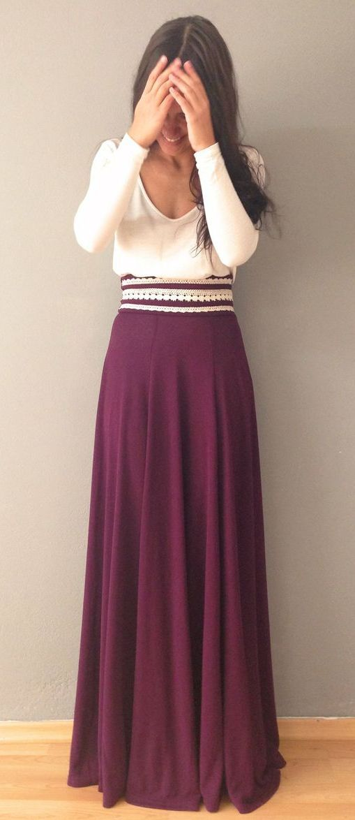 maxi skirt outfit idea fashion style girls 2