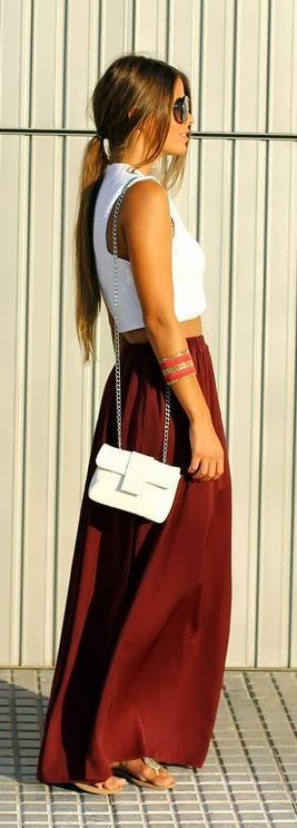 maxi skirt outfit idea fashion style girls 4