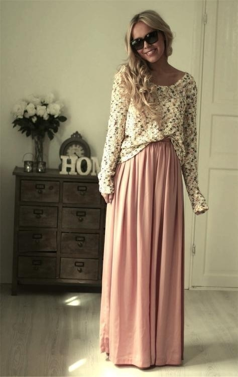 maxi skirt outfit idea fashion style girls 5