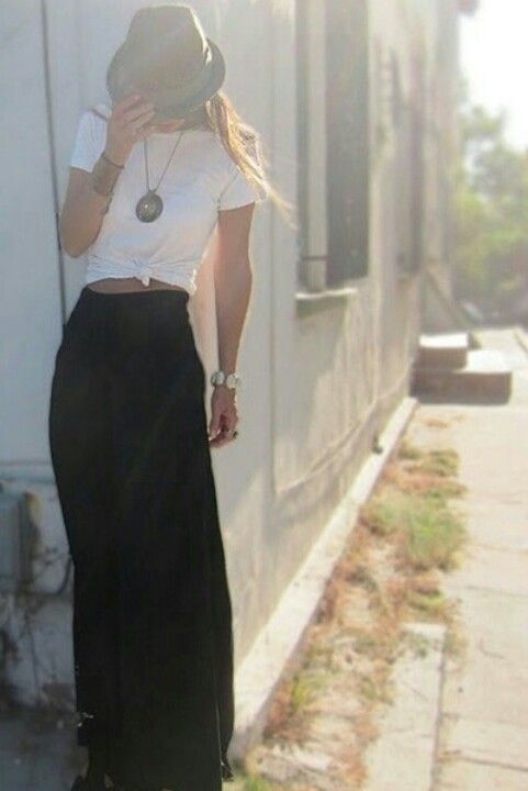 maxi skirt outfit idea fashion style girls 6