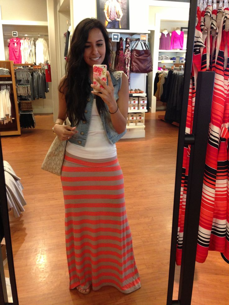 maxi skirt outfit idea fashion style girls 7