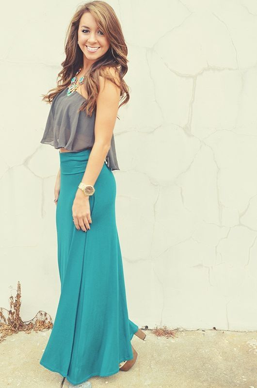 maxi skirt outfit idea fashion style girls 8