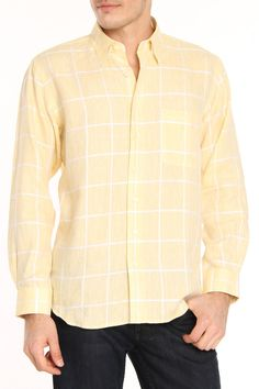 men's yellow dress shirt outfit idea 7