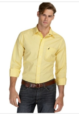 men's yellow dress shirt outfit idea 8