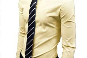 men's yellow dress shirt outfit idea 9