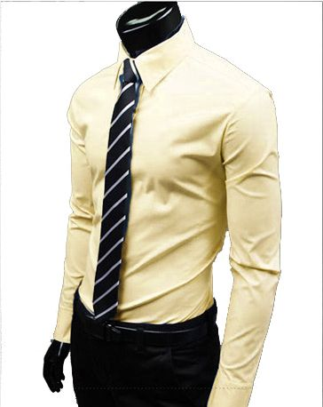 men's yellow dress shirt outfit idea 9