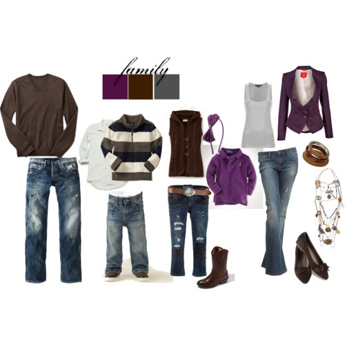 Outfit ideas for family photos and pictures Fall family photo clothing ideas