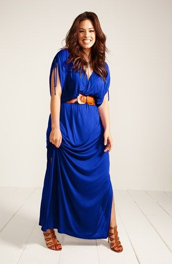 plus sized maxi dress outfit idea 5