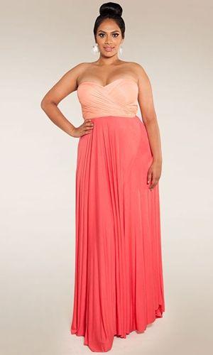 plus sized maxi dress outfit idea 6
