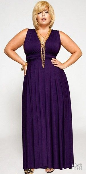 plus sized maxi dress outfit idea 7
