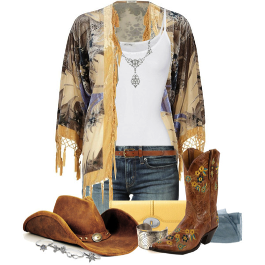 boho style labor day outfit idea