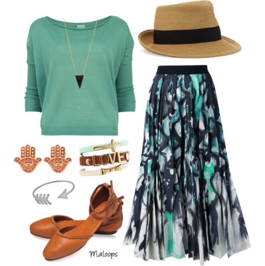 teal labor day outfit idea