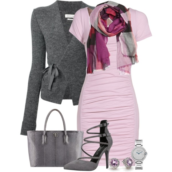interview dresses with scarves outfit ideas 2