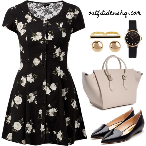 black white church outfit ideas 1