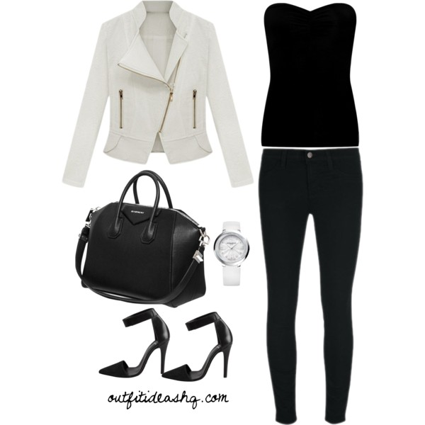 Black white outfit ideas