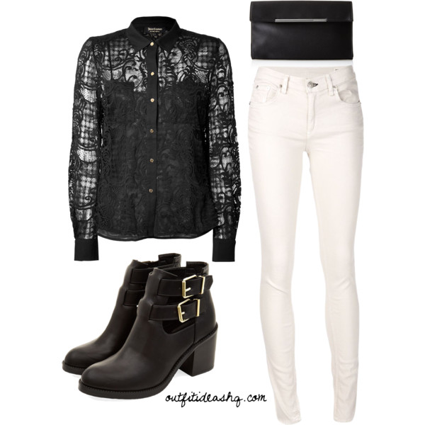 black white church outfit ideas 5