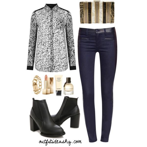 black white church outfit ideas 7
