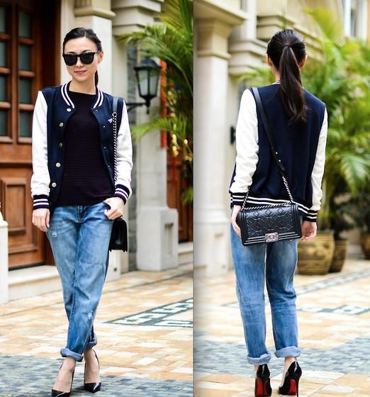 boyfriend jeans outfit idea style 13