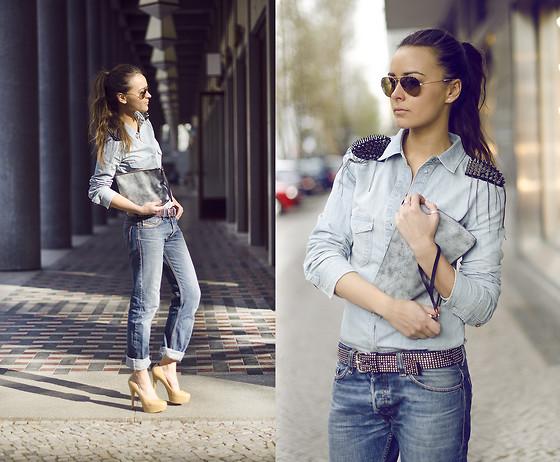 boyfriend jeans outfit idea style 14