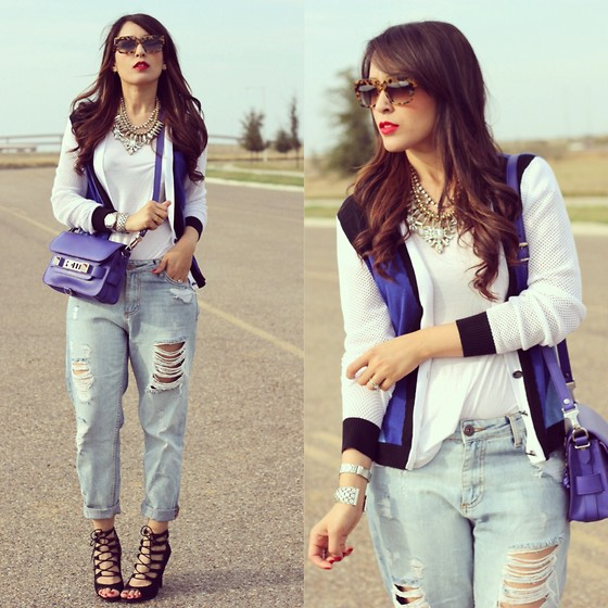 boyfriend jeans outfit idea style 17