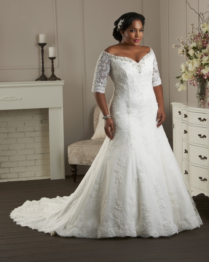 Plus Size Wedding Dress Gown 1g