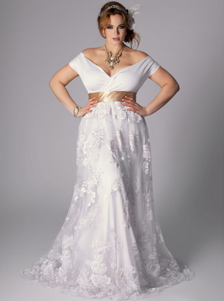 Plus size wedding dresses for Vintage wedding dresses plus size