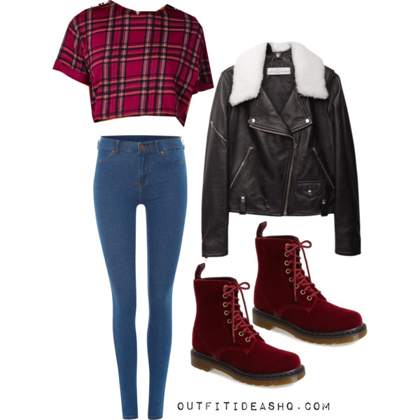 preppy outfit ideas with combat boots 10