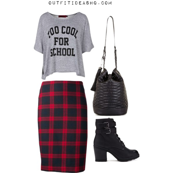 Preppy Outfit Ideas With Combat Boots