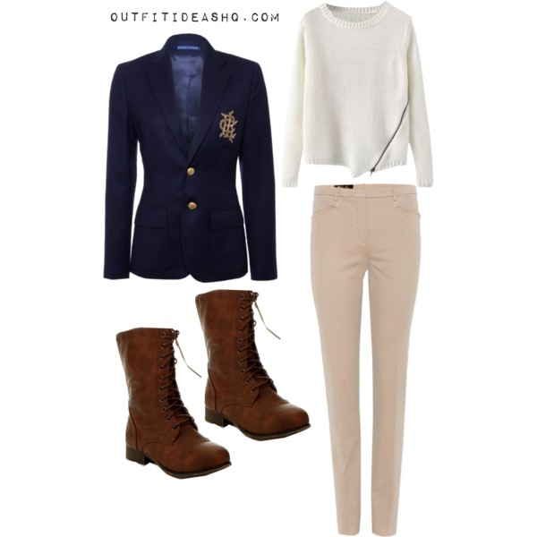 preppy outfit ideas with combat boots 7