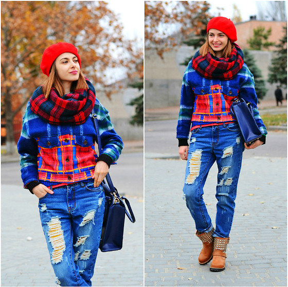 preppy outfit ideas with scarves 2