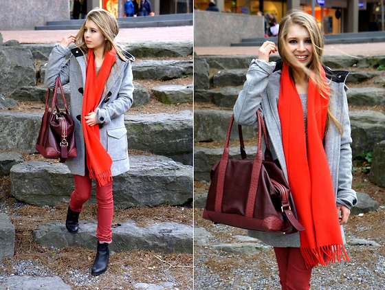 preppy outfit ideas with scarves 8